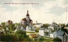 View of West Bend featuring the Washington County Court House in the distance.