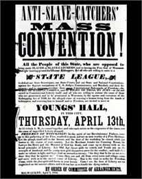Poster advertising Anti-Slave Catchers' Convention
