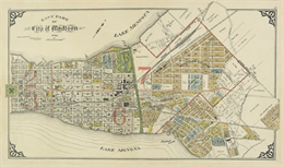Map of the east side of Madison from 1911.