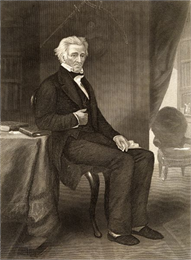 Portrait of Andrew Jackson from a daguerreotype.