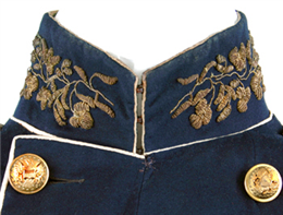 Detail of uniform coat collar