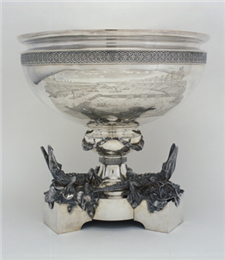 Silver Bowl for Bailey's service during the Civil War