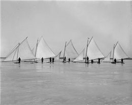 Ice boats on Lake Mendota
