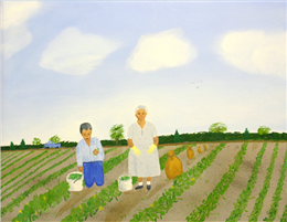 Working in the Fields by Seferina Contreras Klinger