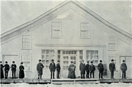 Company store operated by Knapp, Stout & Co. at Prairie Farm
