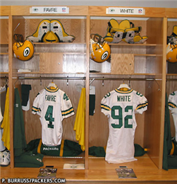 Brett Favre and Reggie White's jersey shirts