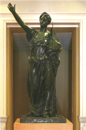 """Forward"" statue by Jean Pond Miner"