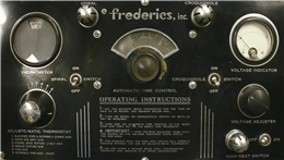 Settings of the Frederics brand permanent wave machine