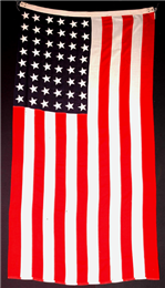 United States flag used to drape the caskets of both Robert M. Lafollette, Sr. and Jr.