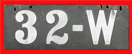 Automobile license plate