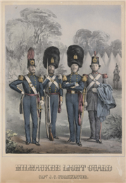 Lithograph of various uniform styles