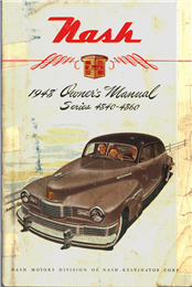 Nash car owner's manual