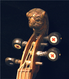 Detail of the violin