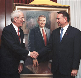George Pollard and former Wisconsin Governor Tommy G. Thompson