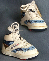 Ho-Chunk beaded Reebok baby shoes