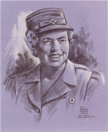 First Lady Eleanor Roosevelt sketched by George Pollard