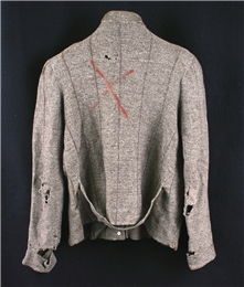 Sweater worn by Tadeusz Kowalczyk while a prisoner at Auschwitz concentration camp