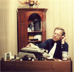 Richard Trentlage at his desk