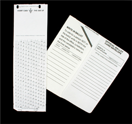 Punch ballot and sleeve