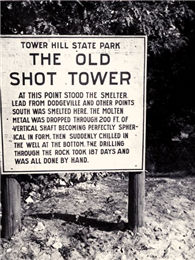 Sign marking the ground where the smelter stood