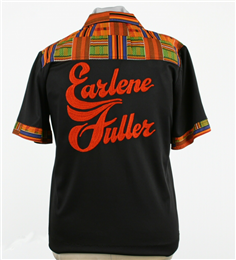 Earlene Fuller's bowling shirt - Back