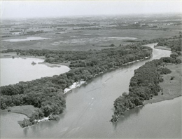 Aerial view of the Rock River.