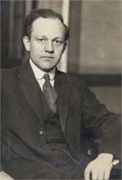 Portrait of Edwin Witte, chief of the Wisconsin Legislative Reference Service from 1922-1933.