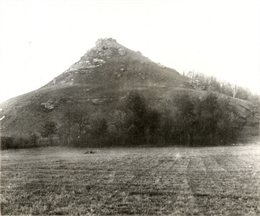 View of Black Hawk Bluff, site of the Battle of Wisconsin Heights in the Black Hawk War.