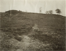 "Confederate ""Fort Hill"" on the south side of Jackson Road where the Confederate entrenchments run southward. The Siege of Vicksburg lasted from May to July 1863."