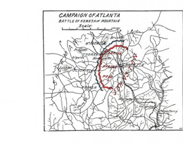 Map of the Battle of Kennesaw.