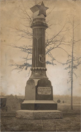 Monument for the 15th Wisconsin Infantry at the Chickamauga and Chattanooga National Military Park.