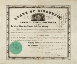 Document certifying that Governor James T. Lewis appointed Dr. Solomon Blood as Surgeon of the 39th Regiment, Wisconsin Volunteer Infantry.