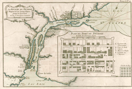 Historic map of Detroit.