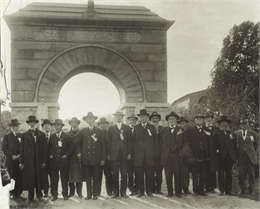 Reunion of the Grand Army of the Republic at Camp Randall, members of the 15th Wisconsin Volunteer Infantry (the mostly Scandinavian unit commanded by Colonel Hans Heg).