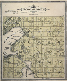 Historic map Dane County lakes and neighborhoods.