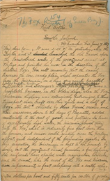 First page of the Reuben Gold Thwaites' handwritten draft manuscript for his book Historic Waterways.