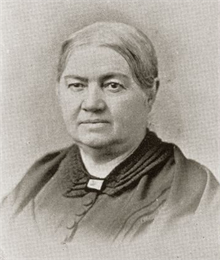 Black and white portrait of Elizabeth Baird.