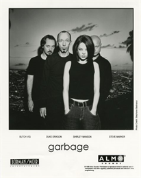 Group portrait for the band Garbage.
