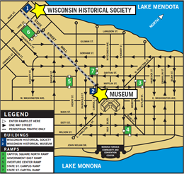 Parking map for downtown Madison.