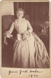Cabinet card of an informal full-length portrait.