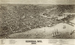 1882 Kenosha Map
