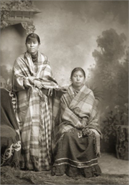 Portrait of Ho-Chunk Mother and Daughter from People of the Big Voice