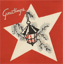 Holiday, card, historical image