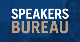 Banner for Speakers Bureau events