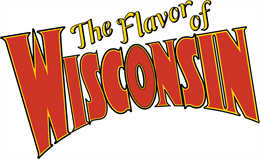Flavor of Wisconsin title treatment in red, yellow, and black