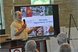 Rick Bernstein presented a PowerPoint presentation at the Metropolitan regional local history meeting