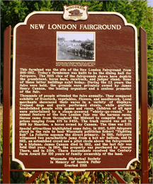 Photograph of historic marker for New London Fairground