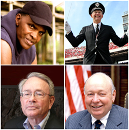 Portraits of four winners of 2010 Wisconsin History Maker Awards