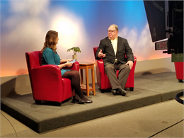 Society Director Christian Øverland appears on Duluth TV morning show