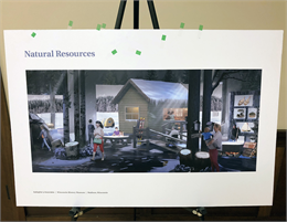 """Natural Resources"" New museum exhibit concept rendering (Credit: Gallagher & Associates)"